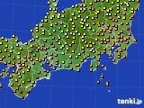 2016年09月08日の東海地方のアメダス(気温)