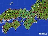 2016年09月09日の近畿地方のアメダス(日照時間)