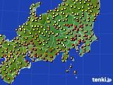 2016年09月09日の関東・甲信地方のアメダス(気温)