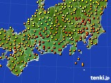 2016年09月09日の東海地方のアメダス(気温)