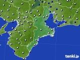 2016年09月09日の三重県のアメダス(風向・風速)