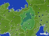 2016年09月09日の滋賀県のアメダス(風向・風速)