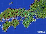 2016年09月11日の近畿地方のアメダス(日照時間)