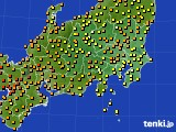 2016年09月11日の関東・甲信地方のアメダス(気温)
