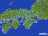 2016年09月12日の近畿地方のアメダス(風向・風速)