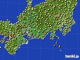 2016年09月13日の東海地方のアメダス(気温)