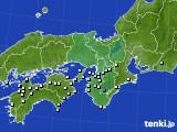 近畿地方のアメダス実況(降水量)(2016年09月14日)