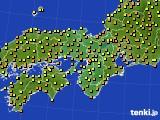 近畿地方のアメダス実況(気温)(2016年09月14日)