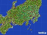 2016年09月15日の関東・甲信地方のアメダス(気温)