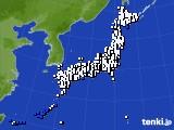 2016年09月15日のアメダス(風向・風速)