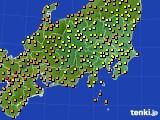 2016年09月16日の関東・甲信地方のアメダス(気温)