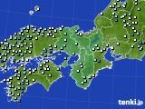 近畿地方のアメダス実況(降水量)(2016年09月19日)