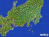 2016年09月19日の関東・甲信地方のアメダス(気温)