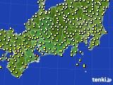 2016年09月20日の東海地方のアメダス(気温)