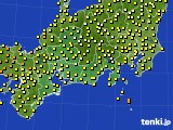 2016年09月24日の東海地方のアメダス(気温)