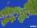 2016年09月26日の近畿地方のアメダス(気温)