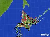 北海道地方のアメダス実況(日照時間)(2016年09月27日)