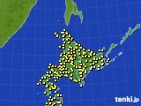 北海道地方のアメダス実況(気温)(2016年09月27日)