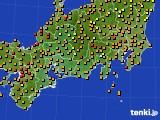 2016年09月27日の東海地方のアメダス(気温)
