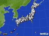 2016年09月27日のアメダス(風向・風速)