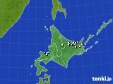 北海道地方のアメダス実況(降水量)(2016年09月28日)