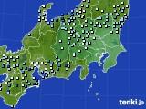 関東・甲信地方のアメダス実況(降水量)(2016年09月28日)