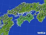 四国地方のアメダス実況(降水量)(2016年09月28日)