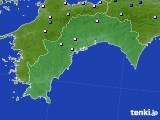 高知県のアメダス実況(降水量)(2016年09月28日)