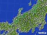 北陸地方のアメダス実況(風向・風速)(2016年09月28日)