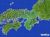 近畿地方のアメダス実況(降水量)(2016年09月29日)