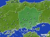 岡山県のアメダス実況(降水量)(2016年09月29日)