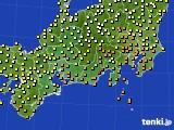 2016年09月29日の東海地方のアメダス(気温)