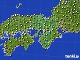 2016年09月29日の近畿地方のアメダス(気温)