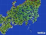 関東・甲信地方のアメダス実況(日照時間)(2016年10月01日)