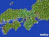 2016年10月01日の近畿地方のアメダス(気温)