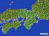 2016年10月03日の近畿地方のアメダス(気温)