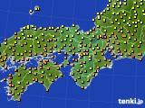 2016年10月04日の近畿地方のアメダス(気温)