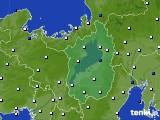 2016年10月04日の滋賀県のアメダス(風向・風速)