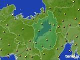 2016年10月06日の滋賀県のアメダス(気温)