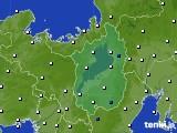 2016年10月07日の滋賀県のアメダス(風向・風速)