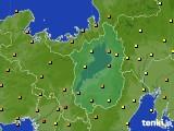 2016年10月08日の滋賀県のアメダス(気温)