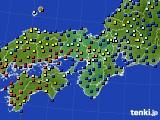 近畿地方のアメダス実況(日照時間)(2016年10月09日)