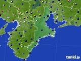 三重県のアメダス実況(日照時間)(2016年10月09日)