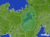 2016年10月09日の滋賀県のアメダス(風向・風速)