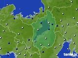2016年10月10日の滋賀県のアメダス(風向・風速)