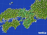 2016年10月12日の近畿地方のアメダス(気温)