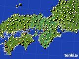 2016年10月17日の近畿地方のアメダス(気温)