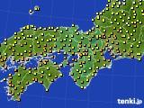 2016年10月18日の近畿地方のアメダス(気温)
