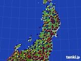 2016年10月20日の東北地方のアメダス(日照時間)