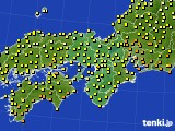 2016年10月20日の近畿地方のアメダス(気温)